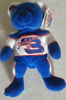 DALE EARNHARDT J TEAM SPEED BEANS BEANIE BABY BEAR STUFFED TOY w TAG NRMT NASCAR