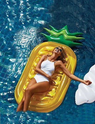 Giant Pineapple Float Toy Swimming Pool Summer Swim Ring Water Raft Inflatable