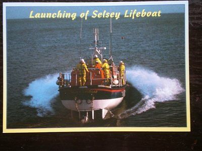 Postcard Launching Of Selsey Lifeboat