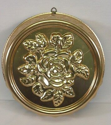 Vintage 1970's Copper Colored Aluminum* ROSE IN THE ROUND * Jello~Ice~Mold~