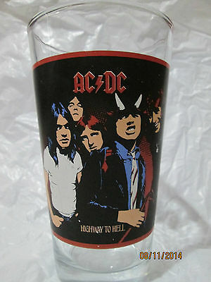 Ac/dc Highway To Hell Red Ac/dc Logo 16 Oz. Pint Glass New