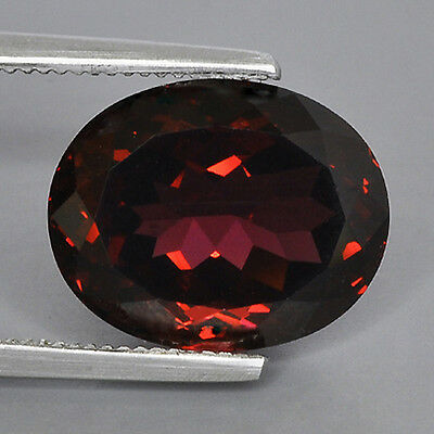8.49Cts Natural Rhodolite Garnet Madagascar Purple Red Color Oval Gemstone