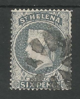 ST HELENA SG16 THE  VICTORIAN 1871  6d  DULL BLUE FINE USED CAT £120
