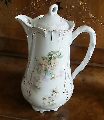 Antique Porcelain Tea Pot Chocolate Pot Made In Germany Old
