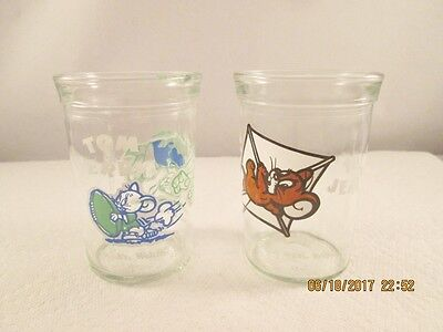 Jelly glasses Welch's Tom and Jerry cartoon 1990