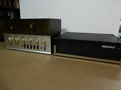 Set Three Vintage Dynaco Stereo 120 Amplifier Pat-4 Preamplifier  Dynatuner Fm-1