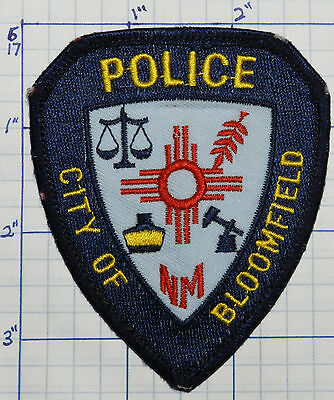 New Mexico, Bloomfield Police Dept Dark Blue Patch