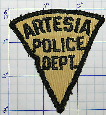 "New Mexico, Artesia Police Dept Vintage 3"" Patch"