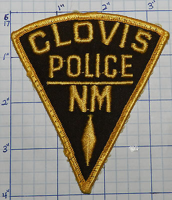 New Mexico, Clovis Police Dept Brown & Gold Patch