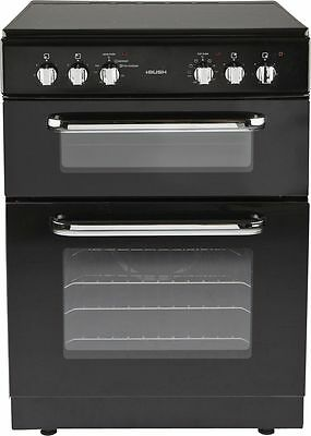 Bush BFEDC60B Free Standing 60cm Double Electric Cooker - Black -From Argos ebay