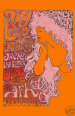 Rock: Big Brother at The Ark in Sausalito Concert Poster 1967