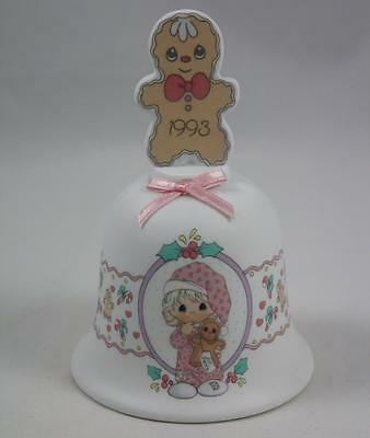 Precious Moments 251372 1993 Wishing You The Sweetest Christmas Bell Gingerbread