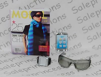 NEW Barbie Basics Collection 002 Look 04 Ken Doll Glasses Accessories Muse Loose
