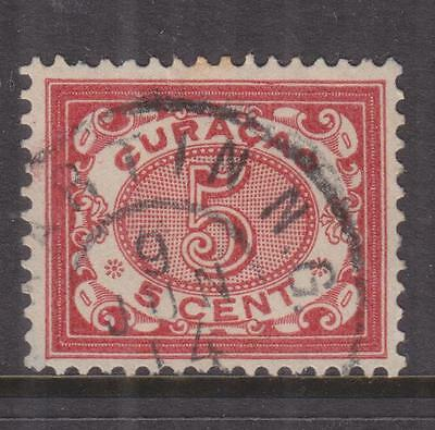 CURACAO, 1904 Figures 5c. Rose, used.