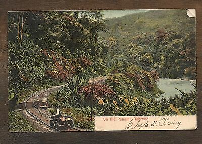 1908 On The Panama Railroad ~ Vintage Postcard