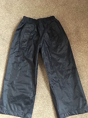BNWOT Boys Or Girls Regatta Waterproof Navy Trousers Size 3-4 New Without Tags