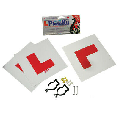 Oxford L Plate Learner Rider Fitting Kit - Motorcycle / Bike / MC / Scooter