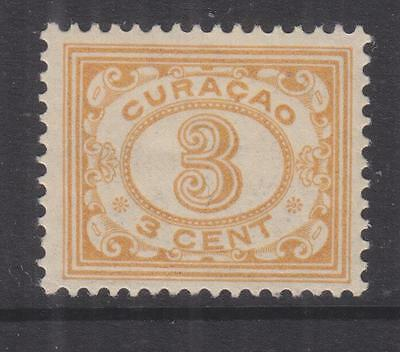 CURACAO, 1915 Figures, 3c. Bistre Yellow, lhm.