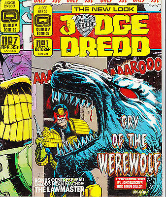 Judge Dredd #1 & 7, Nemesis The Warlock 5 Quality Comics 1986-87