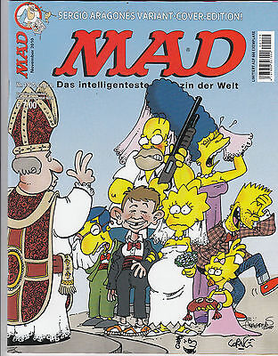 MAD # 136 VARIANT / SIMPSONS - COMIC ACTION 2010 **signiert** CORNE - TOP