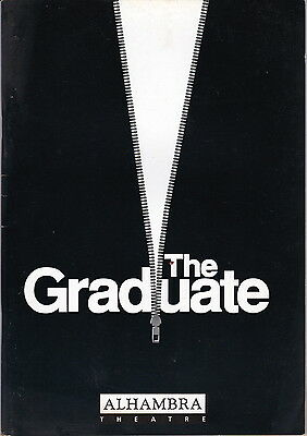 Alhambra Theatre Programme - THE GRADUATE - Signed by Cast Member see below