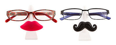 New Tache & Pout Glasses Stand Moustache Lips Holder Seat For Specs Stylish