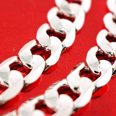 Fsa836 Genuine Real 925 Sterling Silver S/f Solid Cuban Curb Link Necklace Chain