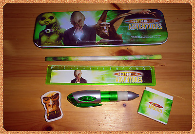 RARE Doctor Who Adventures Pencil Case/Box With Stationary, Near MINT. Dalek Ood