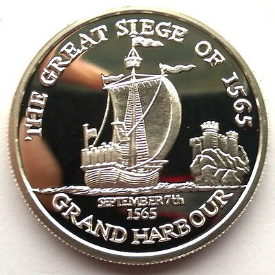 Malta order of 2000 Grand Harbour 1oz Silver Coin,Proof