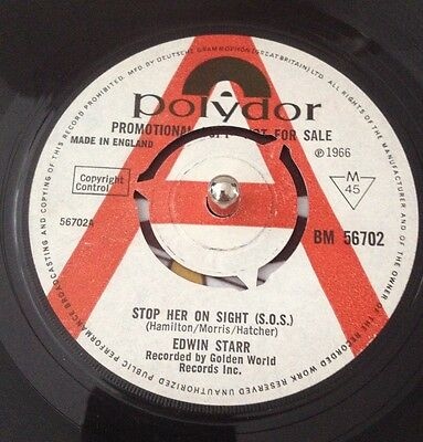 Edwin Starr Stop Her On Sight S.o.s. Polydor Demo Promo Northern Soul Super Rare