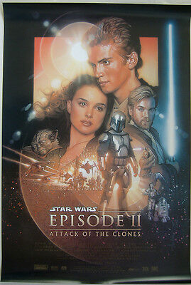 Star Wars Attack Of The Clones (2002) Original D/s Regular One Sheet Poster