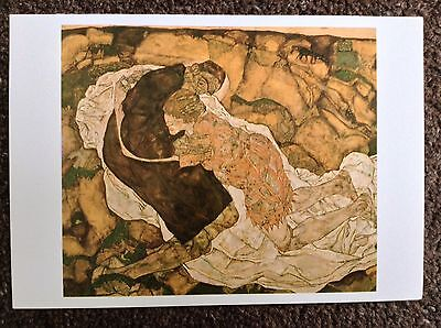 Egon Schiele Vintage POSTCARD 2003 Art Expressionism Death And Maiden Man Girl
