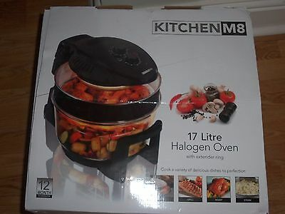 Halogen Oven with Extender Ring 17 Litre Kitchen M8