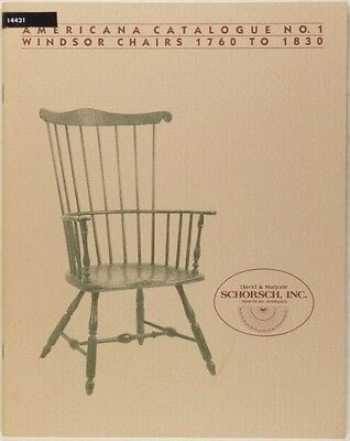 Antique American Windsor Chairs 1760 to 1830 - 1982 Schorsch Catalog