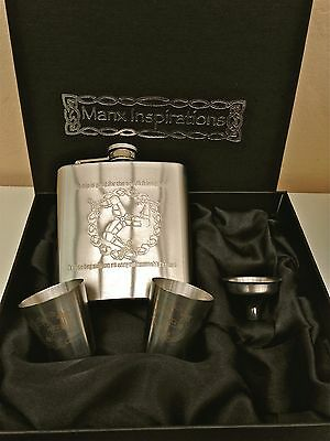Isle of Man Hip flask- direct from Manx Inspirations