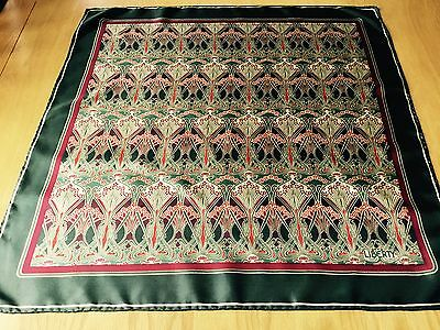 VINTAGE LIBERTY IANTHE DESIGN HAND ROLLED SILK SCARF.  VGC.  23 x 22 INCHES. FAB