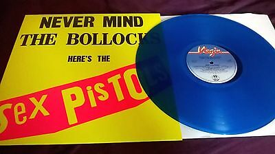 Sex Pistols ‎– Never Mind The Bollocks BLUE VINYL re LP virgin
