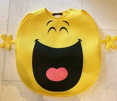 Mr Happy Outfit Dressing Up Tabard By George Asda Age 2 3 4 5 One Size