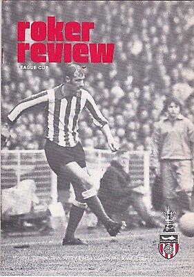 Sunderland  V  Derby County League Cup 29/10/73