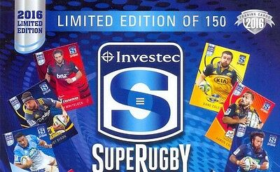 2016 Investec Super Rugby Limited Edition set-25 cards in plastic case & cover