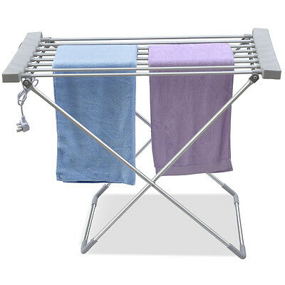 Lightweight Electric Clothes Airer Dryer Indoor Horse Rack Laundry Folding UK