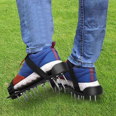 UK 26x4.5cm Garden Lawn Care Shoes Grass Aerator Sandals
