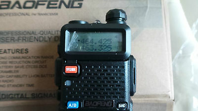 Baofeng UV-5R Walkie Talkie Amateur Radio VHF/UHF Mini Transceiver BLACK