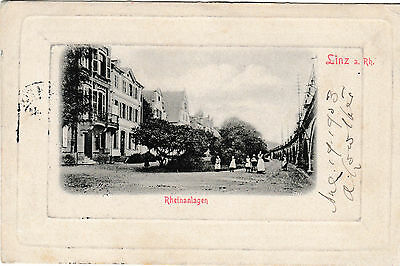 Linz - Rheinanlagen - post card 1903