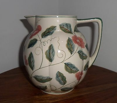 Vintage 1980's Laura Ashley Large Jug Hand Painted