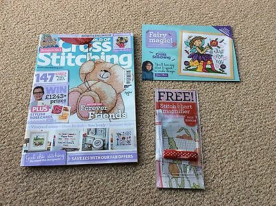 The World of Cross Stitching Magazine Issue 219 with two gifts