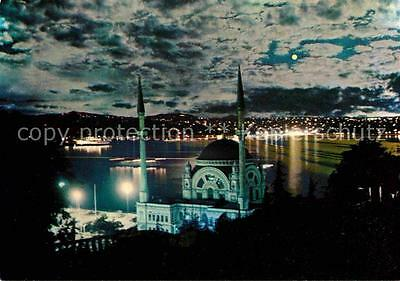 72623778 Istanbul Constantinopel The Mosque of Dolmabahce and Bosphorus at night