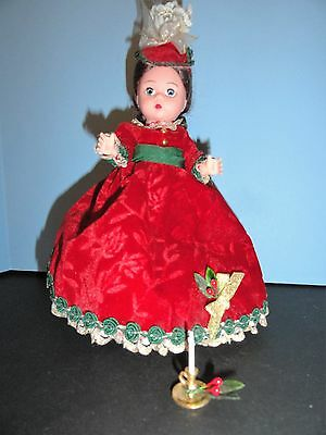 "Madame Alexander  Victorian Christmas Doll 8"" + Candle"