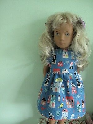 dolls dress and knickers fit sasha doll 16in blue with house design