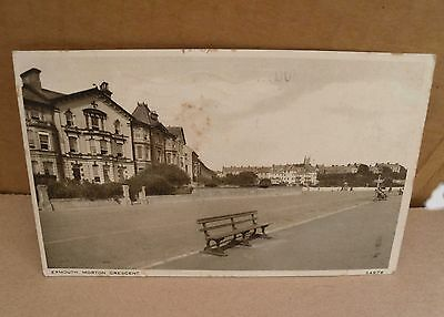 1929 Morton Cresent Exmouth Devon Old Black & White Postcard